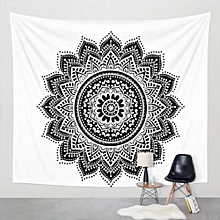 Wall Hanging Tapestry Table Cloth Bedspread Beach Towel Mat Blanket Table Decor-White