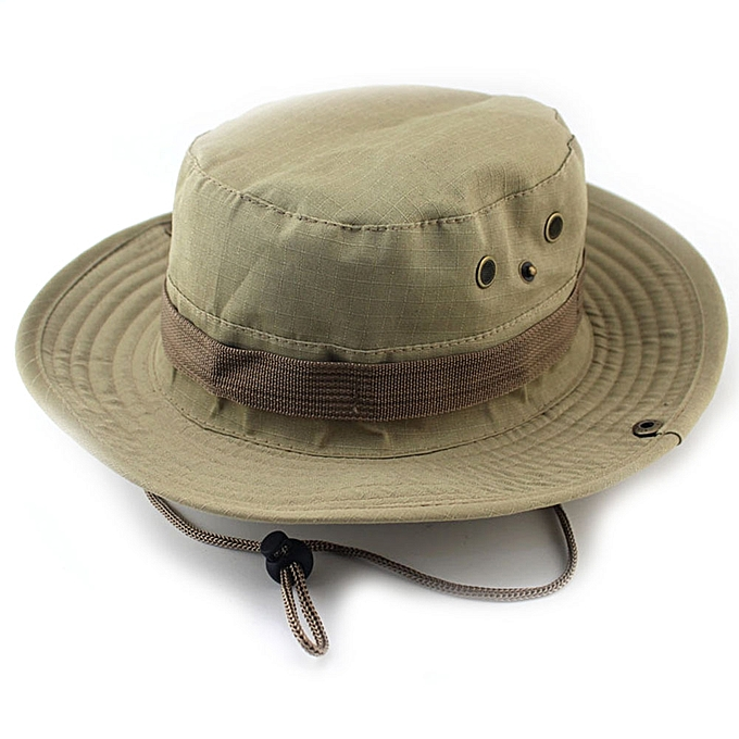 Men Women Camouflage Military Wide Brim Bucket Camping Hunting Boonie Hat  Unisex Cap 7f11b49a30d