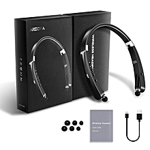 Wireless Bluetooth Foldable Neckband Headset Earphone Retractable Earbuds V4.1 18 Hours Playtime For Iphone&Android [2018 Upgraded Version]