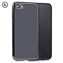 Glint Series Ultra Thin Electroplate Plating TPU Back Cover For IPhone 7 - Black
