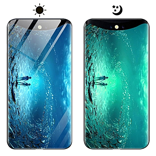 quality design b0b76 08279 OPPO Find X Case, Fashion Luminous [Noctilucent] Tempered Glass Back Cover  With Soft Silicone Rubber TPU Bumper Hybrid Protection Case For OPPO Find X  ...