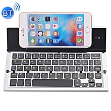 GK608 Ultra-thin Foldable Bluetooth V3.0 Keyboard, Built-in Holder, Support Android / iOS / Windows System (Grey)
