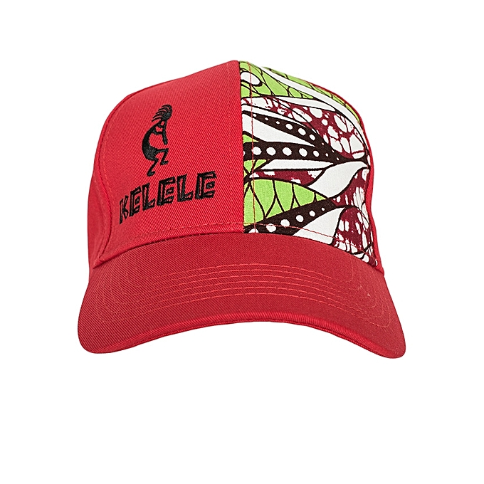 b41fd157ca906 KELELE Red And Green Baseball   Sports Hat With Kelele Color On ...