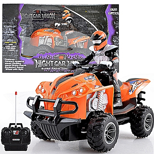 Kids Off Road Crawler Cars Four Wheel RC Motor Cycle Remote