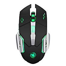 M70 2.4G Wireless Rechargeable Mouse with with six buttons and seven colors of the breathing light 2400DPI Resolution 4 adjustable DPI option