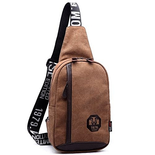 de9aaeb2bc UNIVERSAL Casual Outdoor Travel Hiking Sport Casual Chest Canvas Male  Vintage Men Messenger Bags Small Crossbody Bags For Men(Coffee)