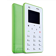 Aiek X6 4.5mm Ultra Thin FM Bluetooth Mini Pocket GSM Mobile Phone