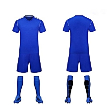 Customized 2018 World Cup Football Soccer Team Training Sports Jersey For Children And Men-Blue