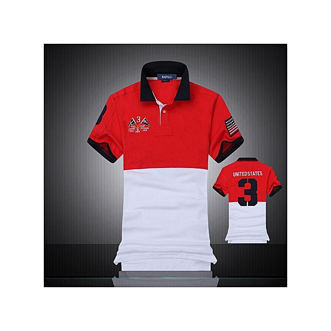 fd54cd41bcbd66 new men s boutique embroidery breathable 100% cotton polo shirt lapel Men s  Air Force One polo