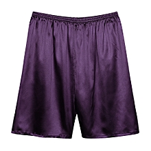 Mens Summer Casual Home Smooth Soft Casual Sleepwear Shorts