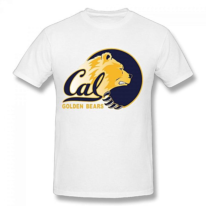 5574f09efc862 California Golden Bears College Men s Cotton Short Sleeve Print T-shirt  White