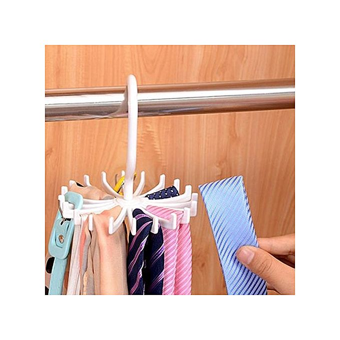 Generic Round Rotating Clothes Hangers Home Tie Scarf Rack