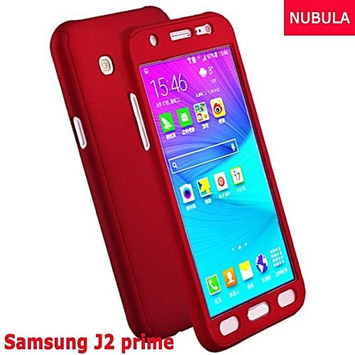 quality design f16e3 11d2a Phone Case For Samsung Galaxy J2 Prime 360 Degree Real Full Body Ultra-thin  Hard Slim PC Protective Case Cover With Tempered Glass 288353 Color-0