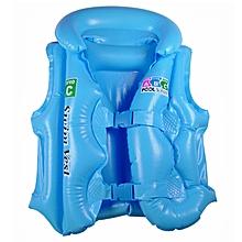 Kisnow 100% Saftey 2-10 Yrs Kids Life Jacket Swim Inflatable Vest Swimwear(Color:Blue)