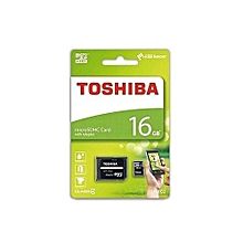 Toshiba Micro SD Memory Card - M102 - 16GB - Black