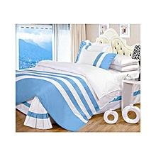 Duvet Cover Set - 5 x 6 - Stripped Blue & White