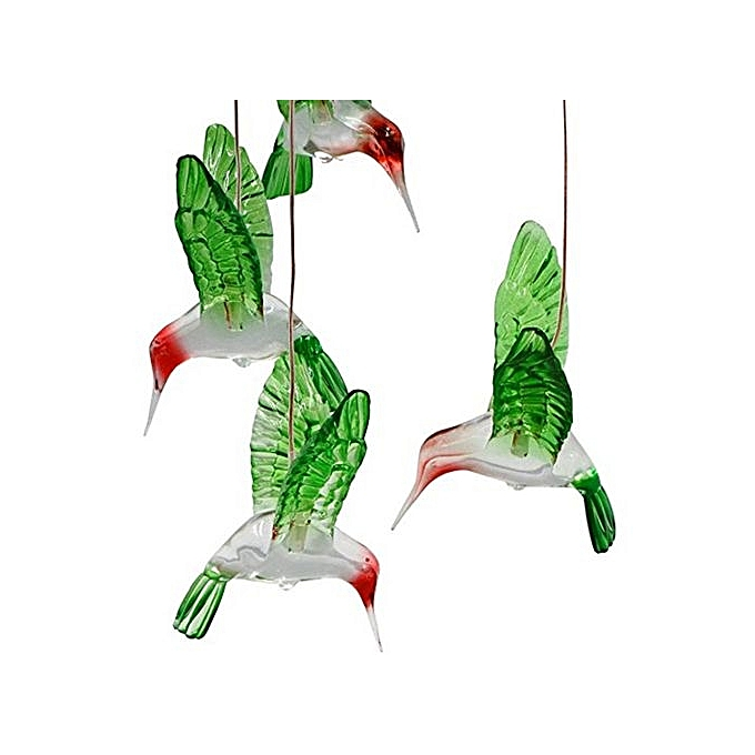 Fohting Color Changing Led Solar Wind Chime Hummingbird For Gardening Lighting Colorful