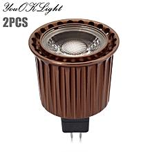 2pcs 5W MR16 380Lm COB LED Spot Bulb Light - White Light