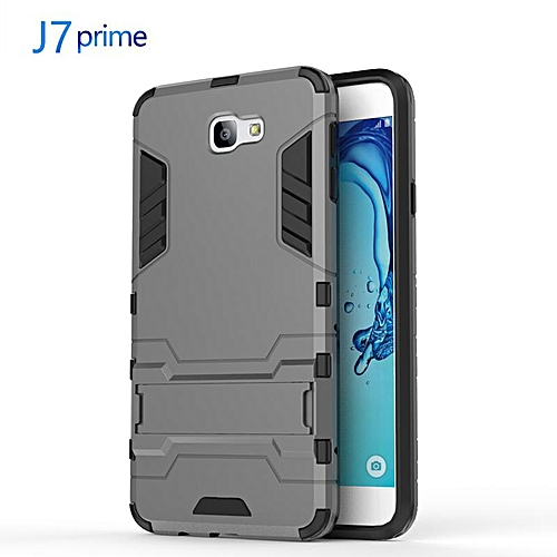 on sale f3637 7ec29 For Galaxy J7Prime Shockproof Anti-Fingerprint Hard Case/Built-in Stand  Phone Protective Case Cover