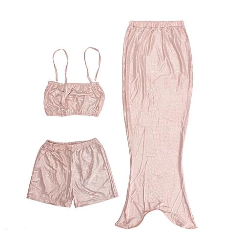 Buy Universal Girls Kids Mermaid Tail Swimmable Bikini Set Swimwear