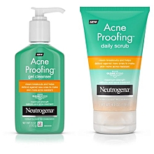 Acne Proofing Daily Scrub - 119g + Acne Proofing Gel Cleanser - 170g