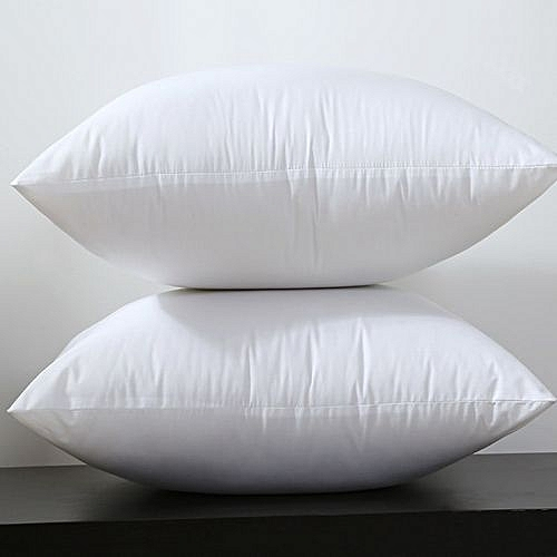 Generic White Cotton Throw Pillows Firm Feel 2 Pieces Best Price
