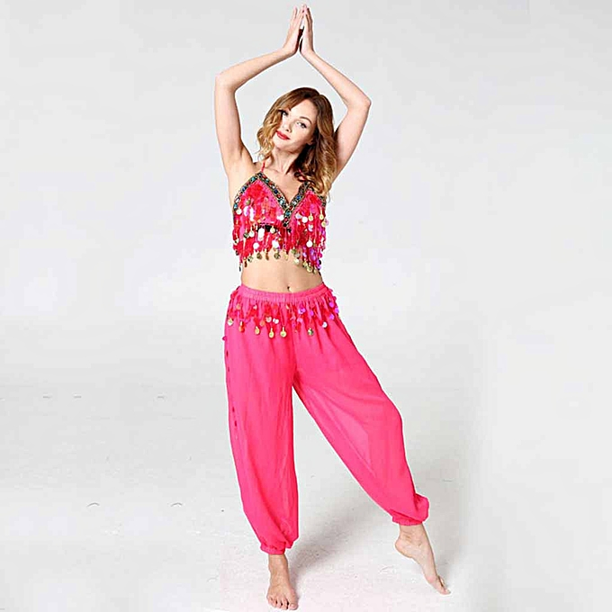 8f0ae9eb96 Fashion Women Ladies Indian Dance Costume Belly Dance Shirt And ...