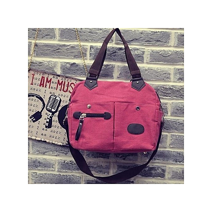 b704f81c749c bluerdream-Neutral Vintage Style Canvas Satchel Shoulder Messenger  Crossbody Casual Bag Hot- Hot Pink