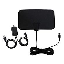 Mini 1080P Antena High Gain Digital HDTV Antenna 50 Miles Range Indoor Antenna black