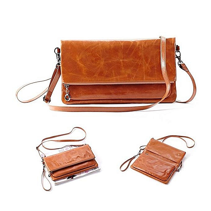 Oil Wax Leather Locomotive Handbags Foreign Trade Diagonal Cross Bag High Gradeeurope And America Hand