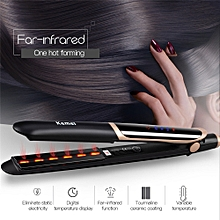 2in1 Far-infrared Hair Flat Iron Hair Straightener Tourmaline Ceramic Ion Hair Curler
