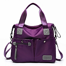 Fashion Large-capacity Shoulder Bag Portable Diagonal Backpack Handbag (Color:Purple Size: + L)