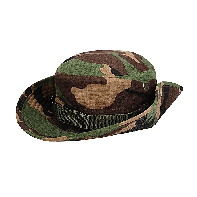 a3d77e2c341 MUXINCAMP Outdoor Fisherman Hat Military Ben Nepalese Jungle Rounded Edges Bucket  Hat