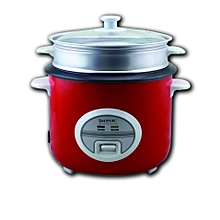 ISONIC RICE COOKER WITH STEAMER IRC-1804(RED)