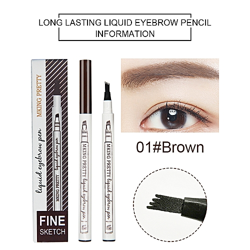 7ec749b6ca0 Generic New Liquid Eyebrow Pencil Fine Sketch Waterproof Eyebrow Tattoo Pen  Super Durable Eye Brow Tint Korean Makeup 3 Colors(1)