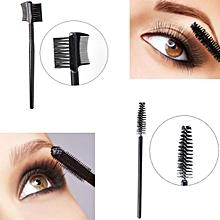 Single-head Screw Eyelash Brush+Double Eyebrow Comb Brush Makeup Set Tools-AS Shown