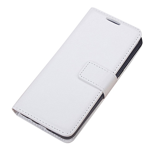 CO Mobile Phone Bag Soft PU Leather Wallet Flip Case Suitable for Samsung S8 Plus-white