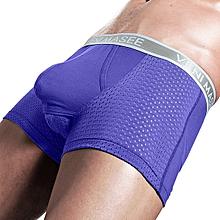 Scrotum Separation Boxer Briefs Ice Silk Mesh Breathable Antibacterial Comfy Underwear for Men