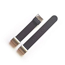 Luxury Leather Watch Band Strap + Lugs Adapters For Fitbit Charge 2