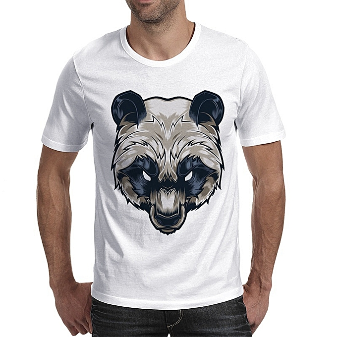 18f0e3aee018 New Stylish Casual Men s Summer Wear Bear Printing Short Sleeves T-shirt