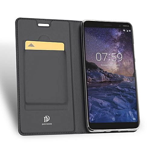 best service 1efc1 fb524 Nokia 7 Plus Leather Case, Pu Leather Flip Wallet Case Cover For Nokia 7  Plus With Stand Function And Card Slot - Black.