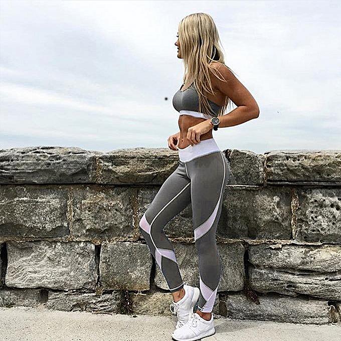ecefa069113c90 Women Yoga Leggings Sports Pants Mesh Insert Fitness Trousers Running  Tights Workout Skinny Leggings Black/