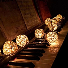 10 LED Color Rattan Ball String Fairy Lights For Xmas Wedding Party Hot YE