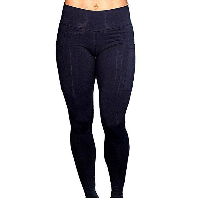 b56c0bd1104e06 Women Sexy Slim Fit Pocket Yoga Running Pants Stretchy Pants rkout Leggings  Casual Tight Leggings rkout