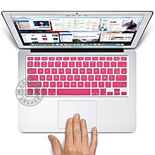 """13"""" Air Skin, US Type French Silicone Keyboard Cover For 2008-2015 Macbook 13.3"""" 15"""" Pro Reitna/Imac G6, Pink"""