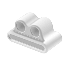 Soft Anti-lost Silicone Wireless Earphone Holder Strap Case for Airpods White