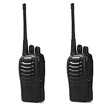 2pcs BAOFENG BF-888S Walkie Talkie With High Brightness Flashlight EU PLUG - Black