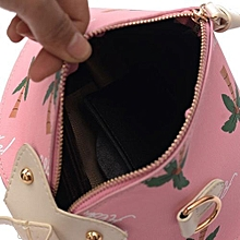 bluerdream-Women Messenger Bags Triangle Lantern Bag Shoulder Bags Handbag Small Body Bags- Pink