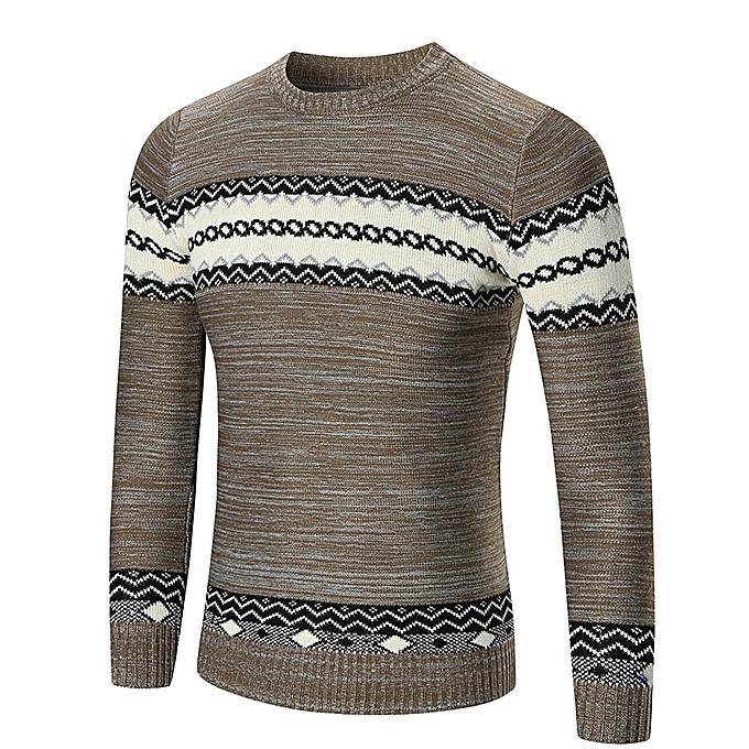 zuverlässiger Ruf Auf Abstand Online-Verkauf Men's Autumn Winter Sweater Pullover Slim Jumper Knitwear Outwear Blouse -  Khaki