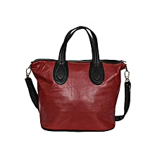 Black/ Maroon Edith's Hand Bag